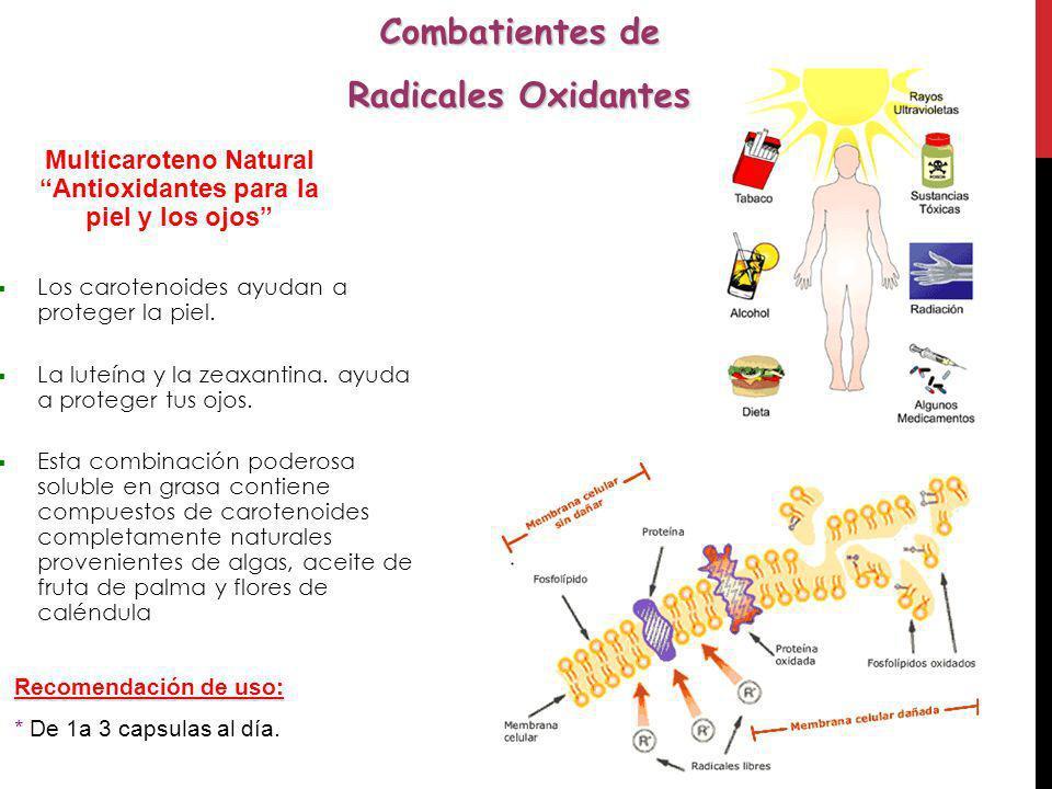 Multicaroteno Natural Antioxidantes para la piel y los ojos