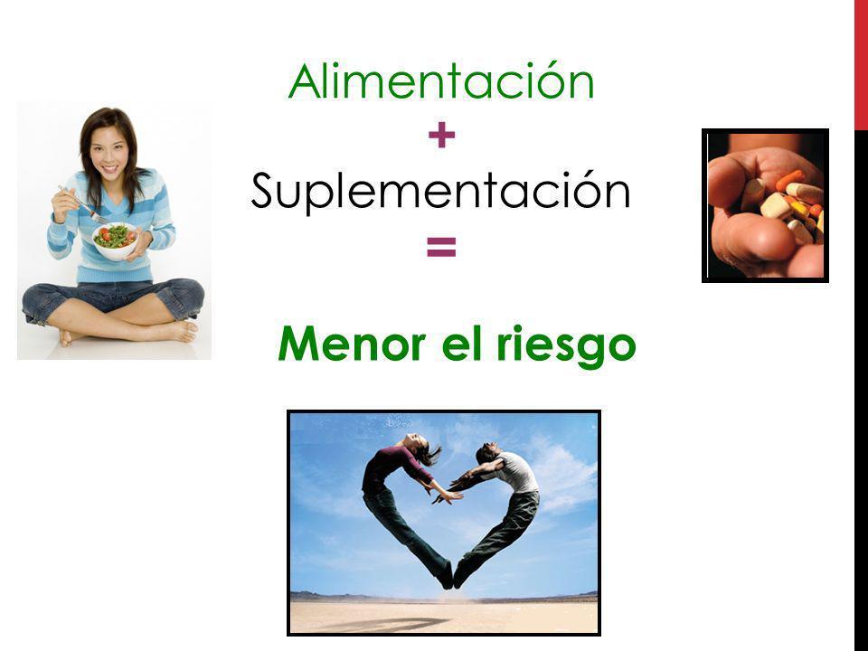 Alimentación + Suplementación =