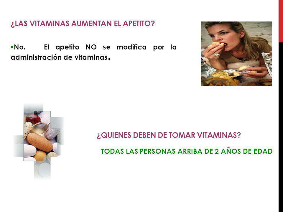 ¿Las vitaminas aumentan el apetito