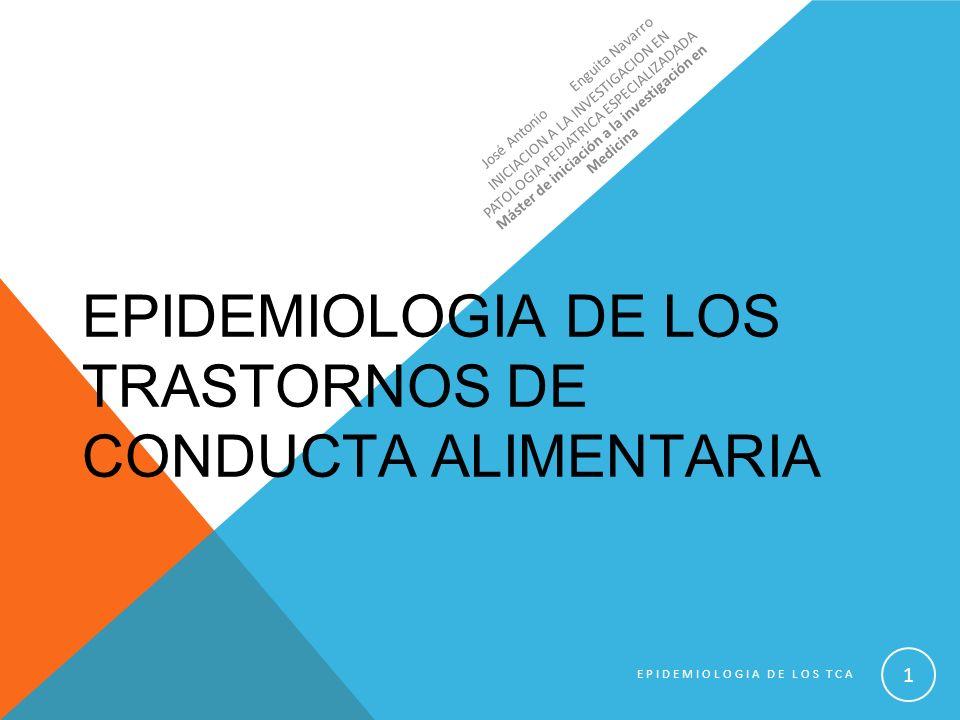 EPIDEMIOLOGIA DE LOS TRASTORNOS DE CONDUCTA ALIMENTARIA