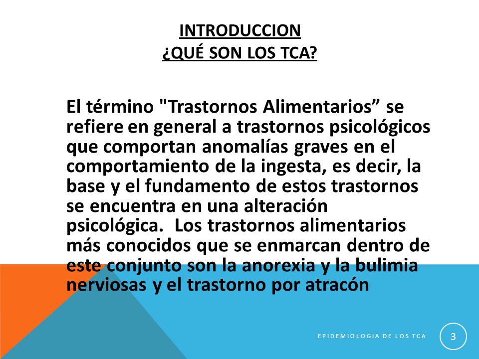 Introduccion ¿Qué SON LOS tca