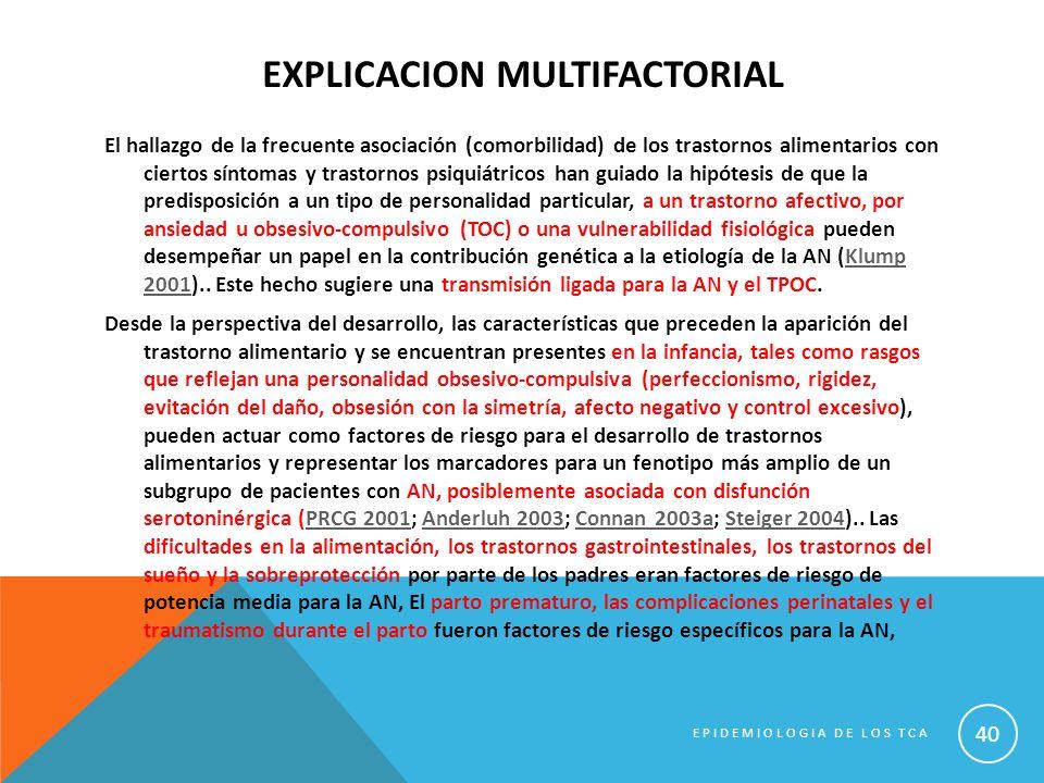 EXPLICACION MULTIFACTORIAL