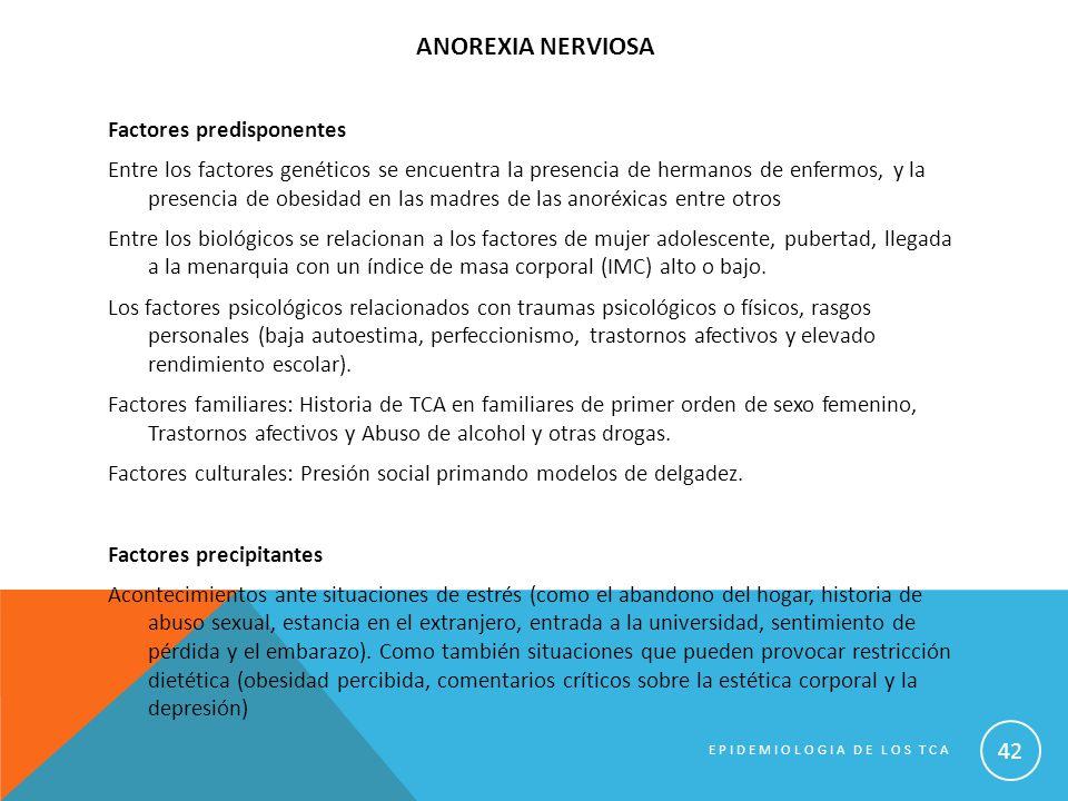 ANOREXIA NERVIOSA Factores predisponentes