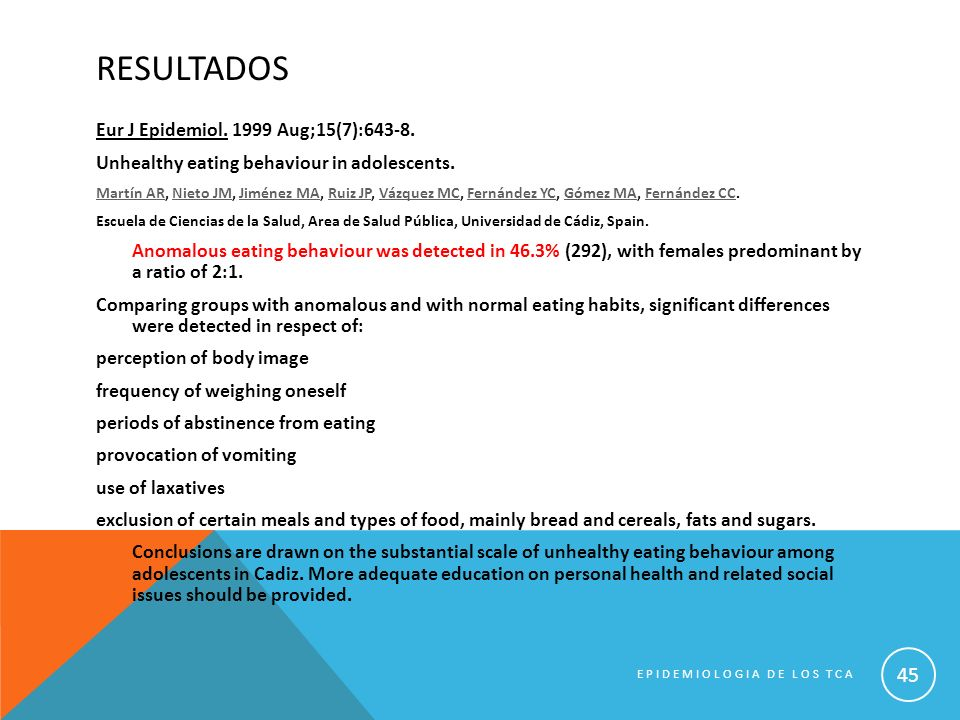 RESULTADOS Eur J Epidemiol. 1999 Aug;15(7):643-8.