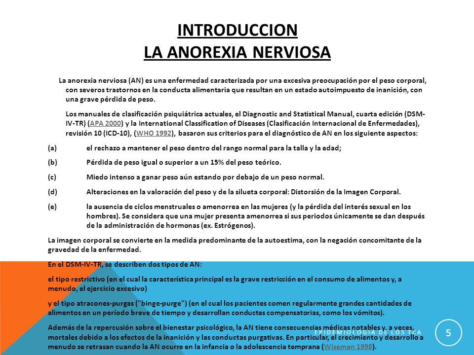 Introduccion la anorexia nerviosa