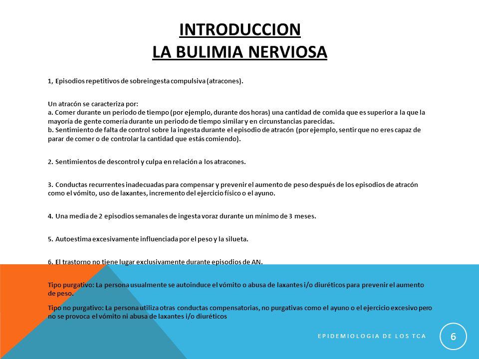Introduccion la bulimia nerviosa
