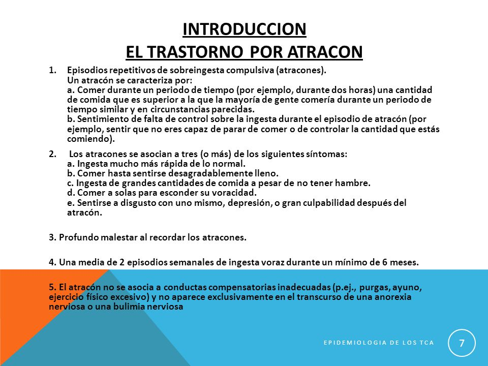 Introduccion el trastorno por atracon