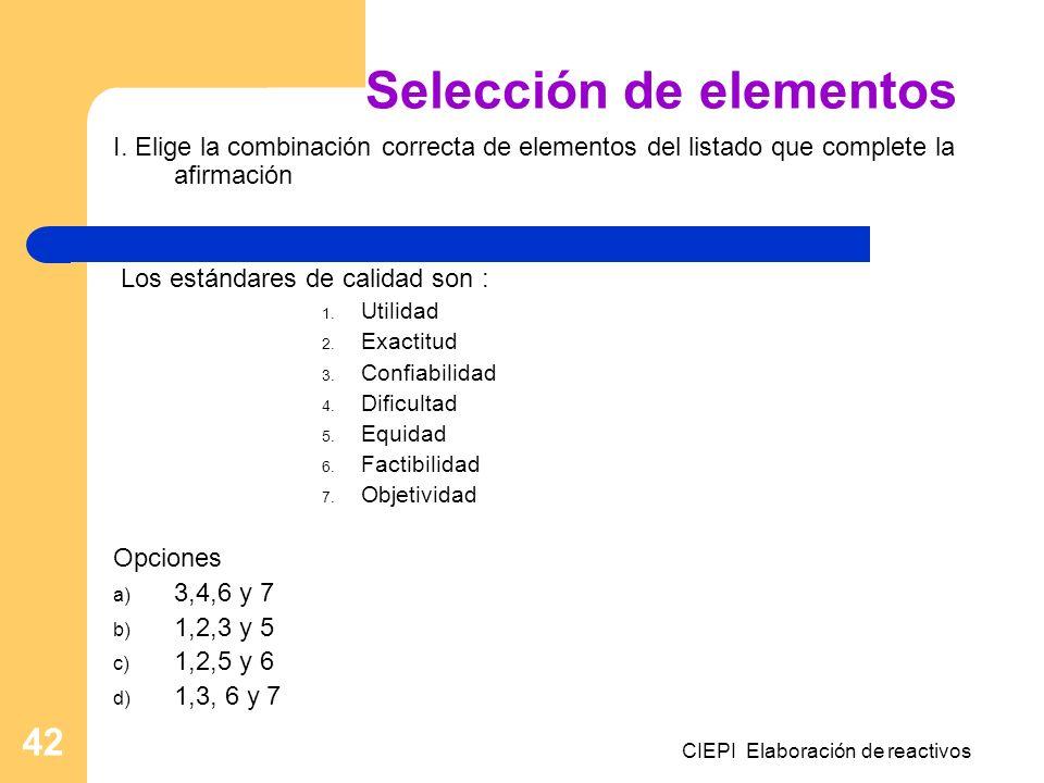Selección de elementos