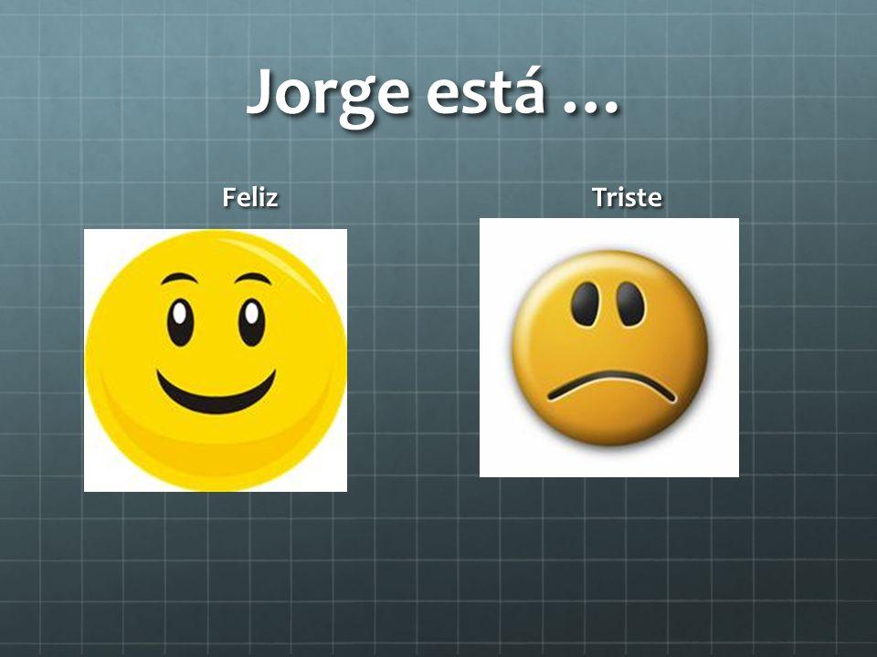 Jorge está … Feliz Triste