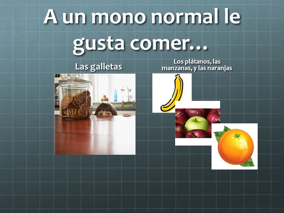 A un mono normal le gusta comer…