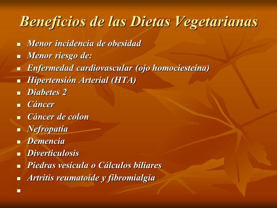 Beneficios de las Dietas Vegetarianas