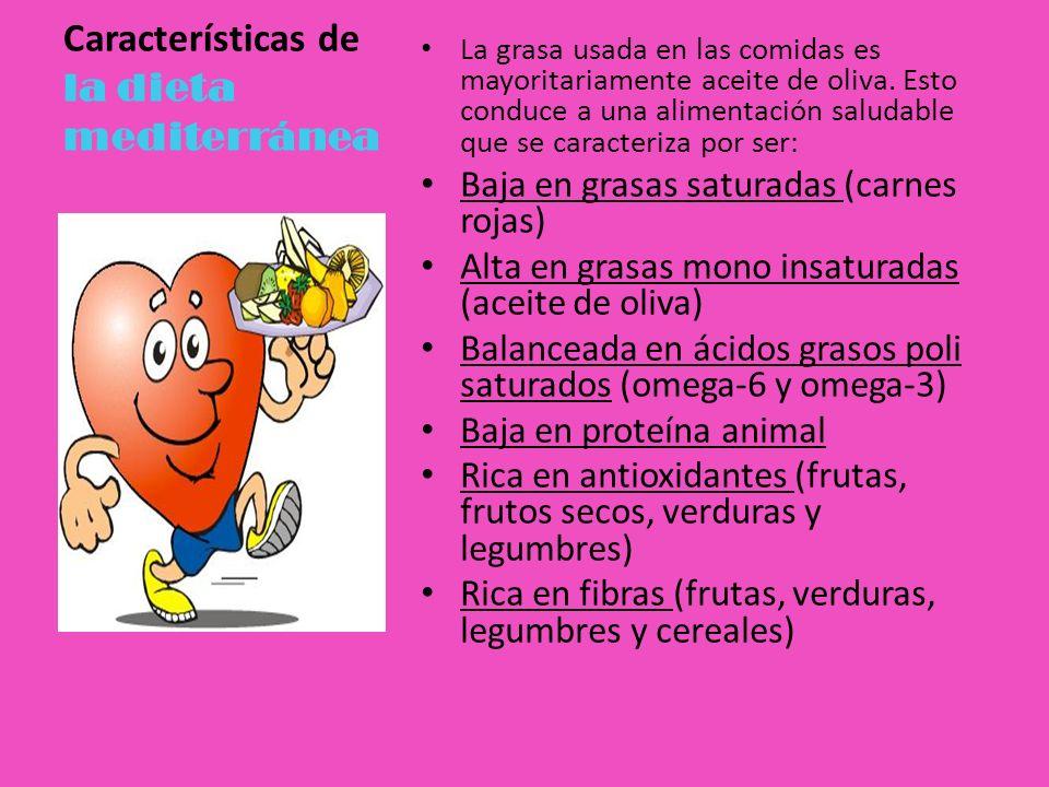 Características de la dieta mediterránea