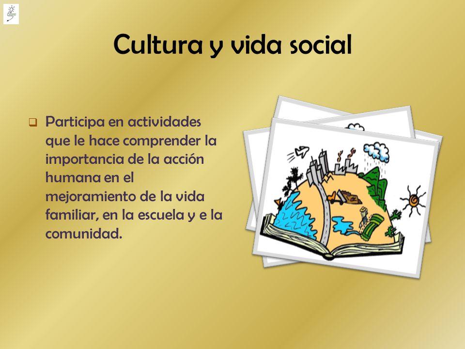 Cultura y vida social