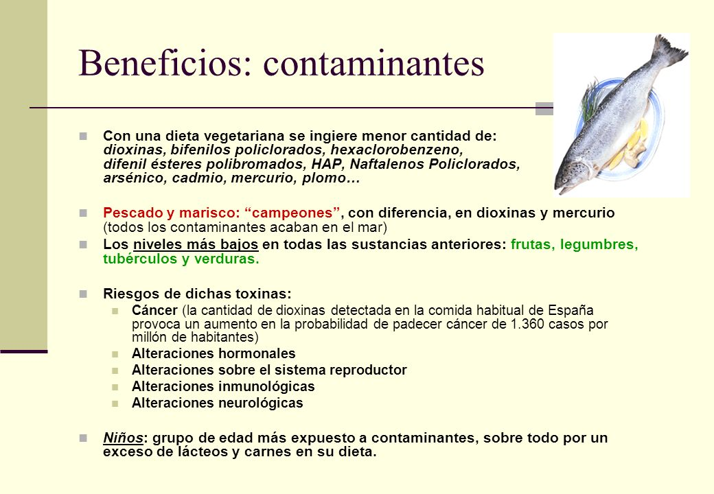Beneficios: contaminantes