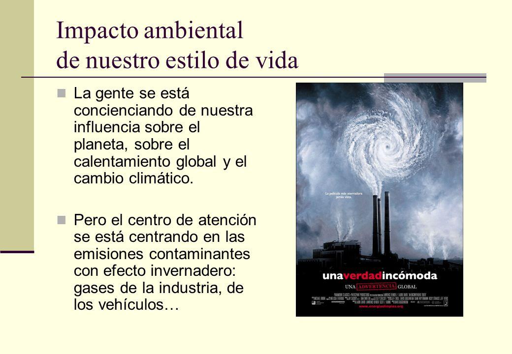 Impacto ambiental de nuestro estilo de vida