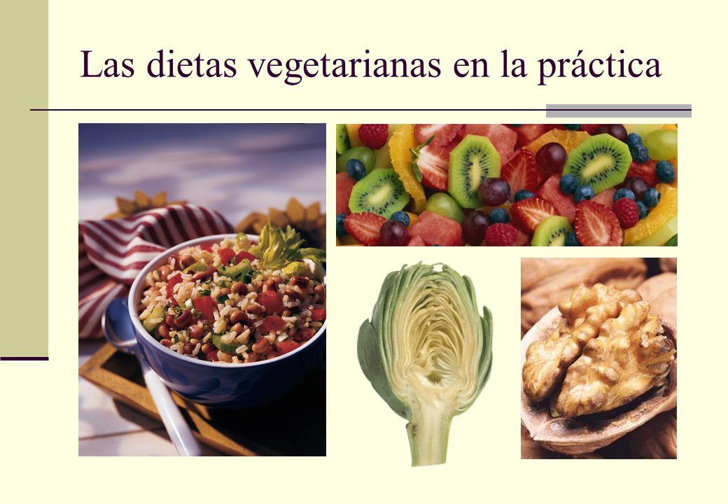 Las dietas vegetarianas en la práctica