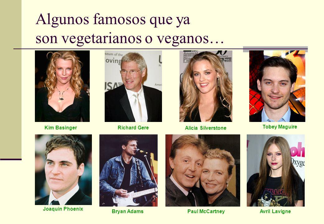 Algunos famosos que ya son vegetarianos o veganos…
