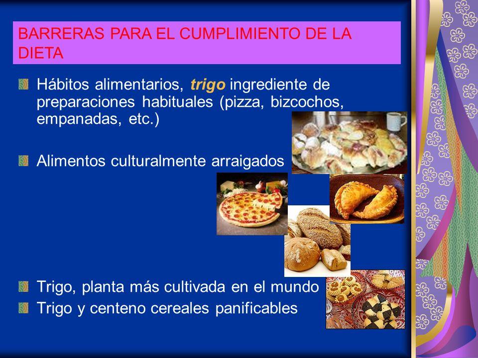 BARRERAS PARA EL CUMPLIMIENTO DE LA DIETA