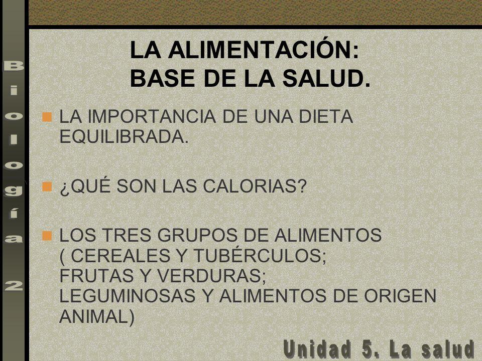 LA ALIMENTACIÓN: BASE DE LA SALUD.