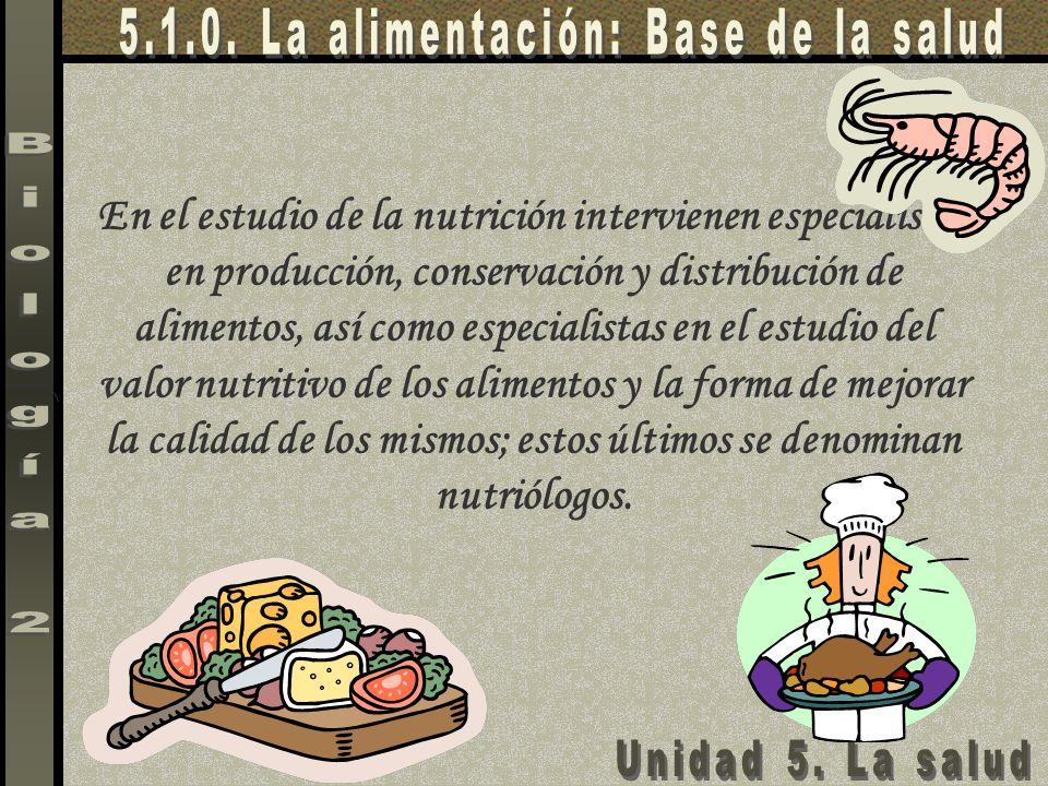 5.1.0. La alimentación: Base de la salud