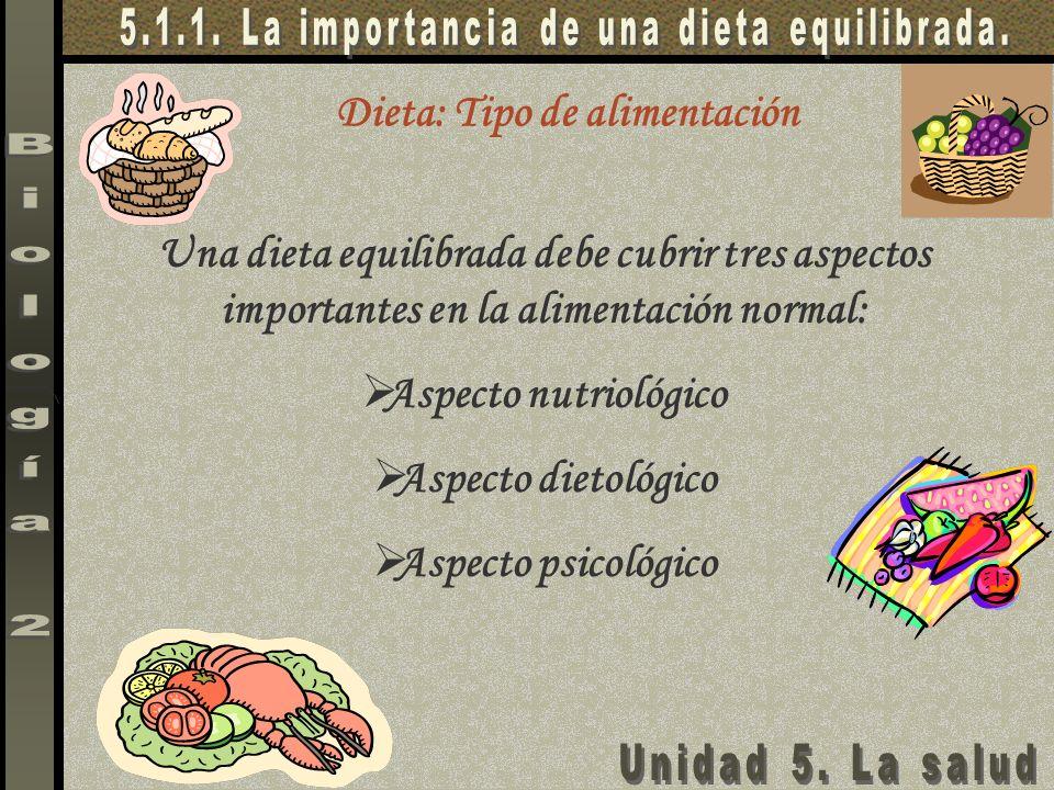 Dieta: Tipo de alimentación