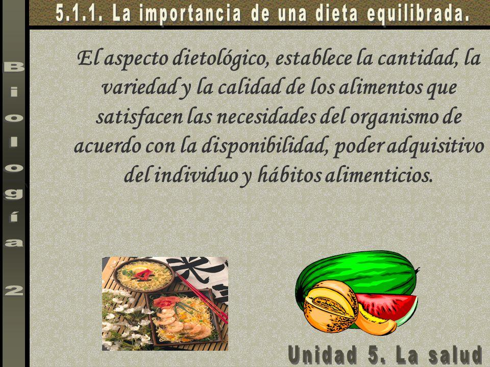 5.1.1. La importancia de una dieta equilibrada.