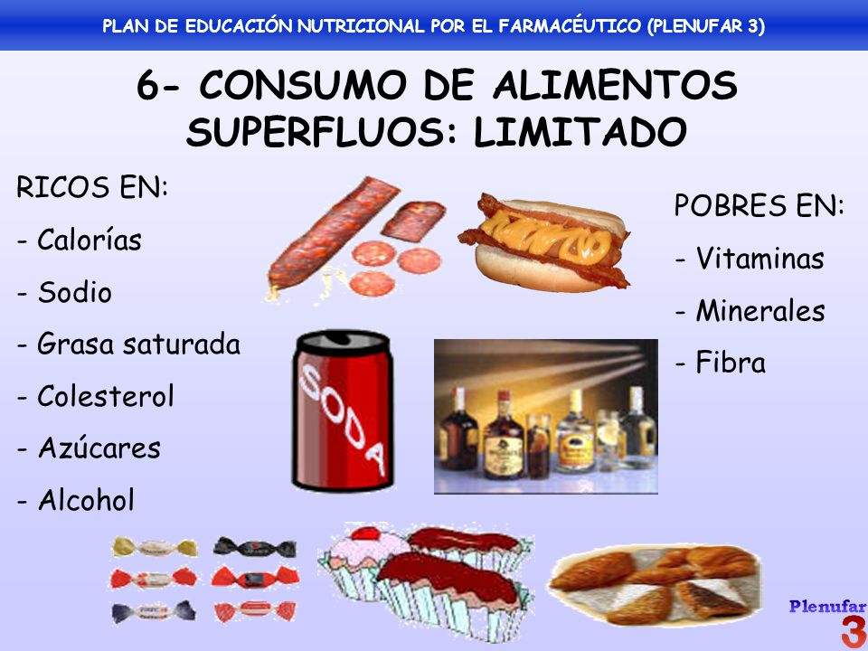 PLAN DE EDUCACIÓN NUTRICIONAL POR EL FARMACÉUTICO (PLENUFAR 3)