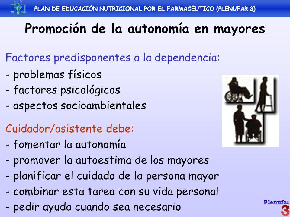 Promoción de la autonomía en mayores