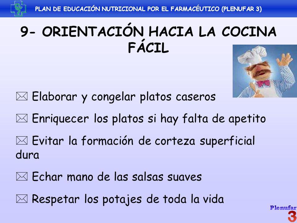 9- ORIENTACIÓN HACIA LA COCINA FÁCIL