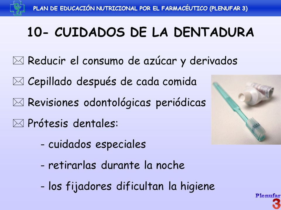 10- CUIDADOS DE LA DENTADURA
