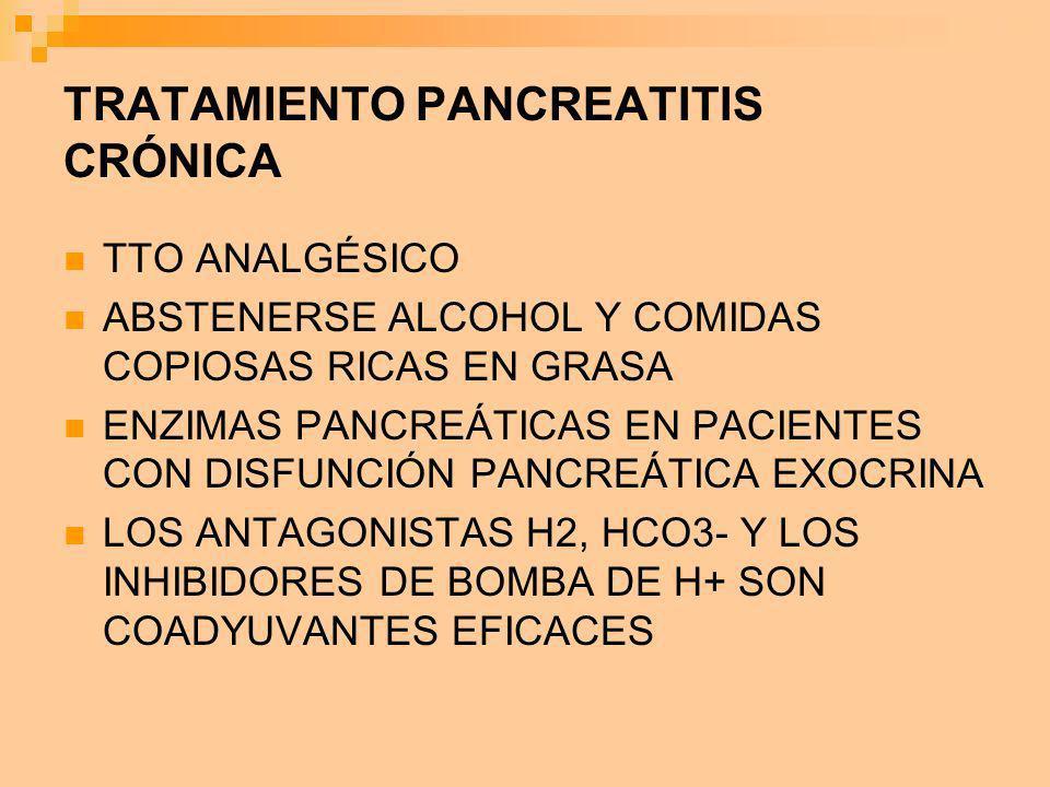 TRATAMIENTO PANCREATITIS CRÓNICA