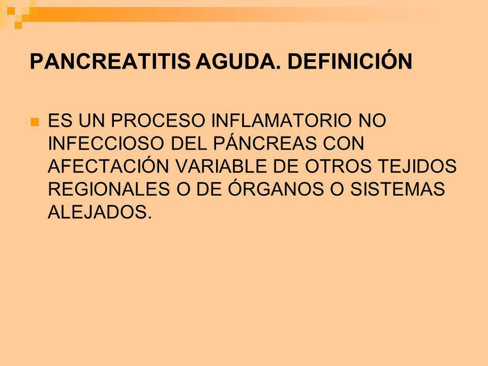 PANCREATITIS AGUDA. DEFINICIÓN