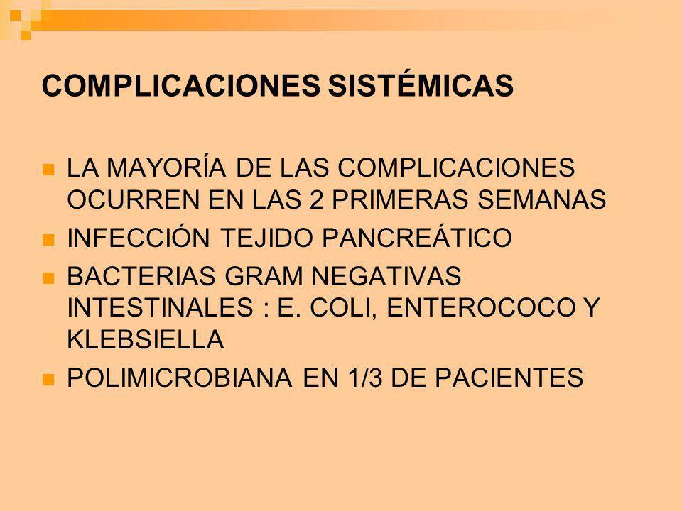 COMPLICACIONES SISTÉMICAS
