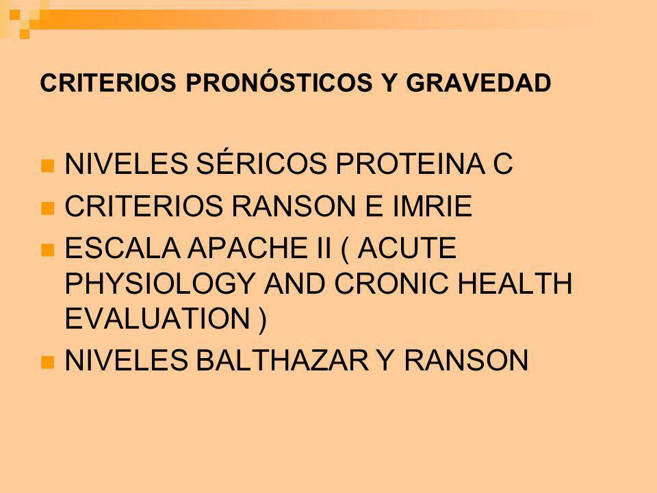 CRITERIOS PRONÓSTICOS Y GRAVEDAD