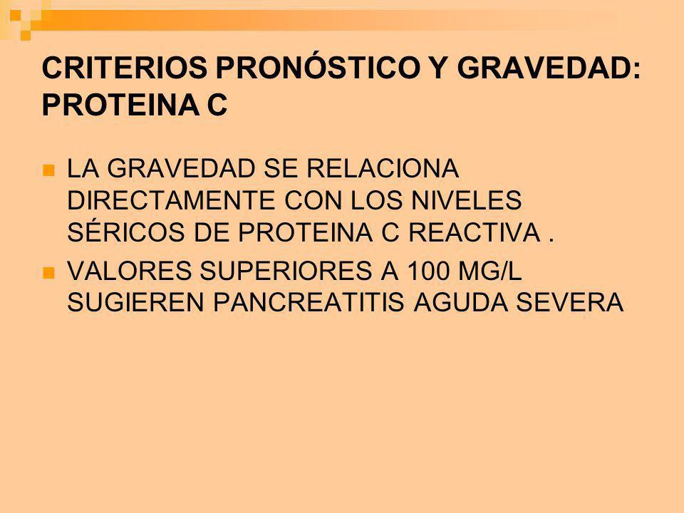 CRITERIOS PRONÓSTICO Y GRAVEDAD: PROTEINA C