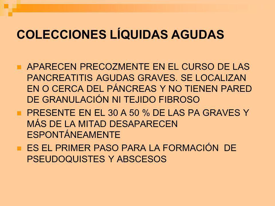 COLECCIONES LÍQUIDAS AGUDAS