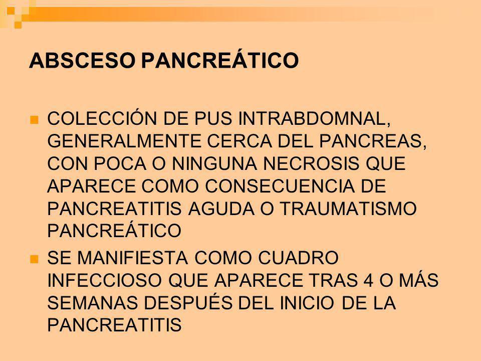 ABSCESO PANCREÁTICO