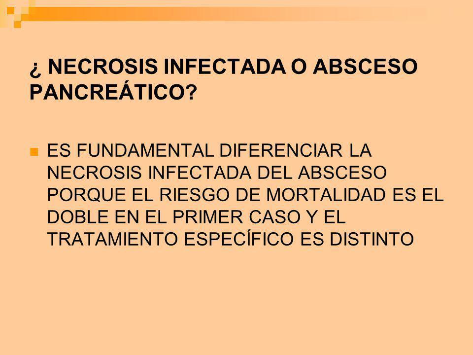 ¿ NECROSIS INFECTADA O ABSCESO PANCREÁTICO