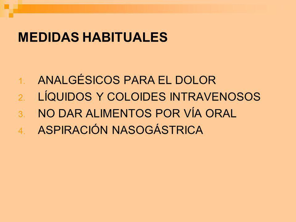 MEDIDAS HABITUALES ANALGÉSICOS PARA EL DOLOR