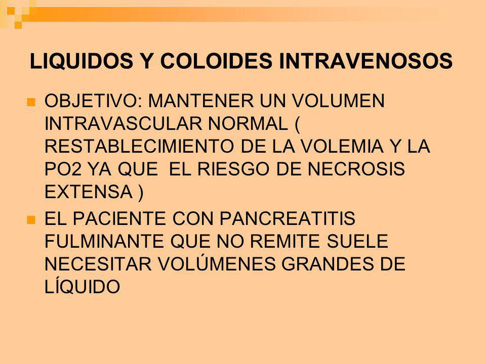 LIQUIDOS Y COLOIDES INTRAVENOSOS