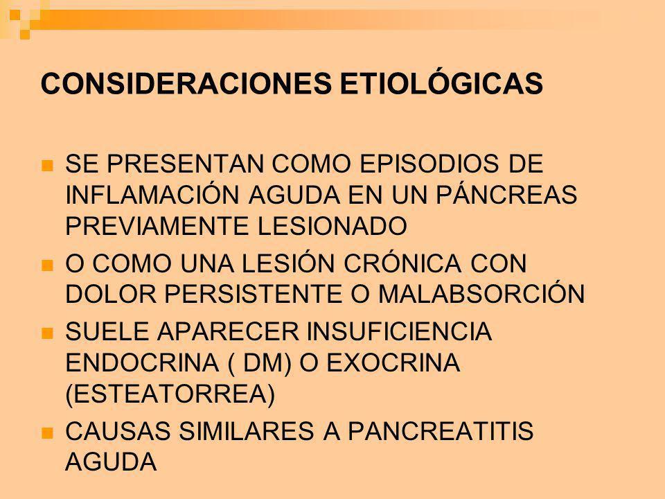 CONSIDERACIONES ETIOLÓGICAS
