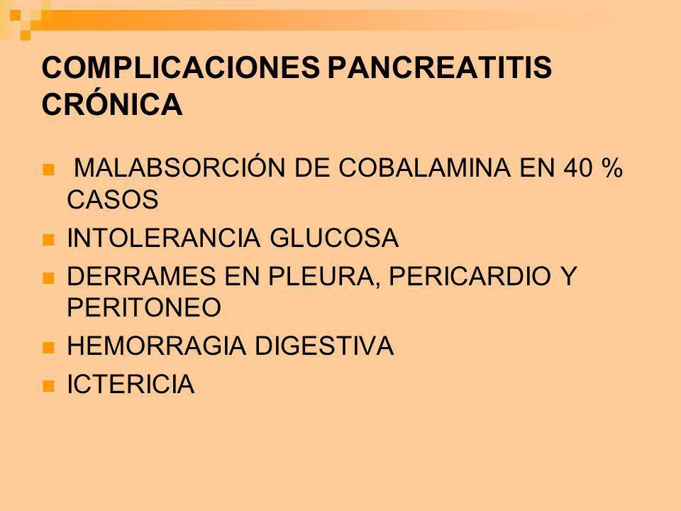 COMPLICACIONES PANCREATITIS CRÓNICA