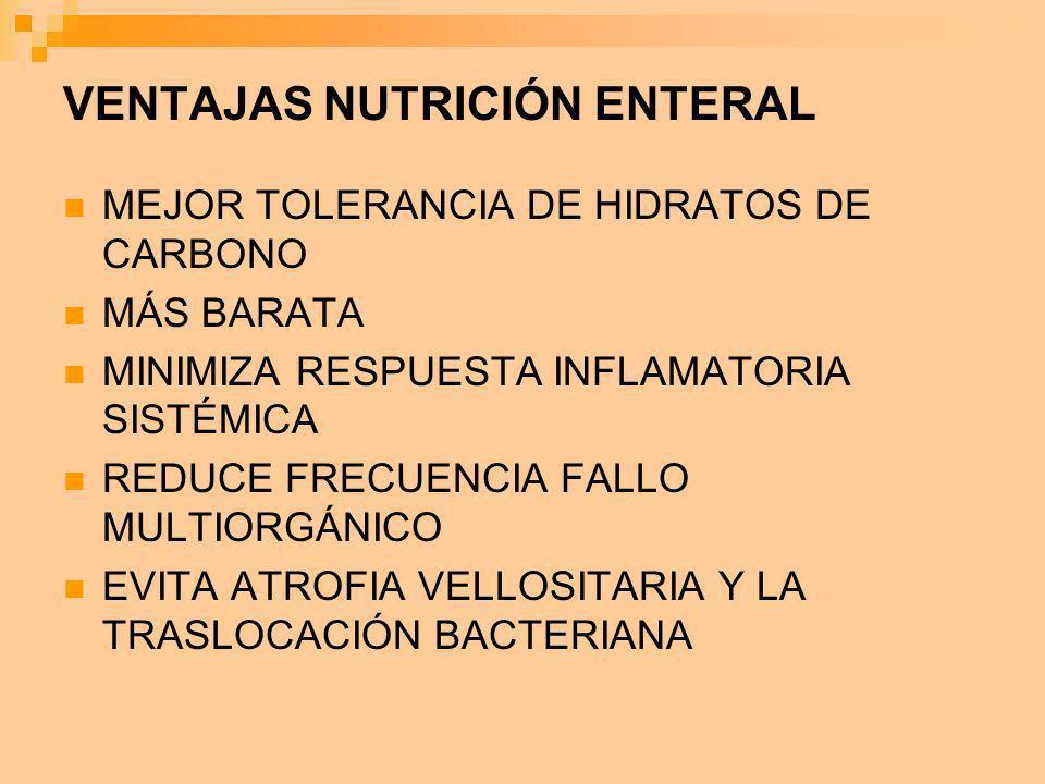 VENTAJAS NUTRICIÓN ENTERAL