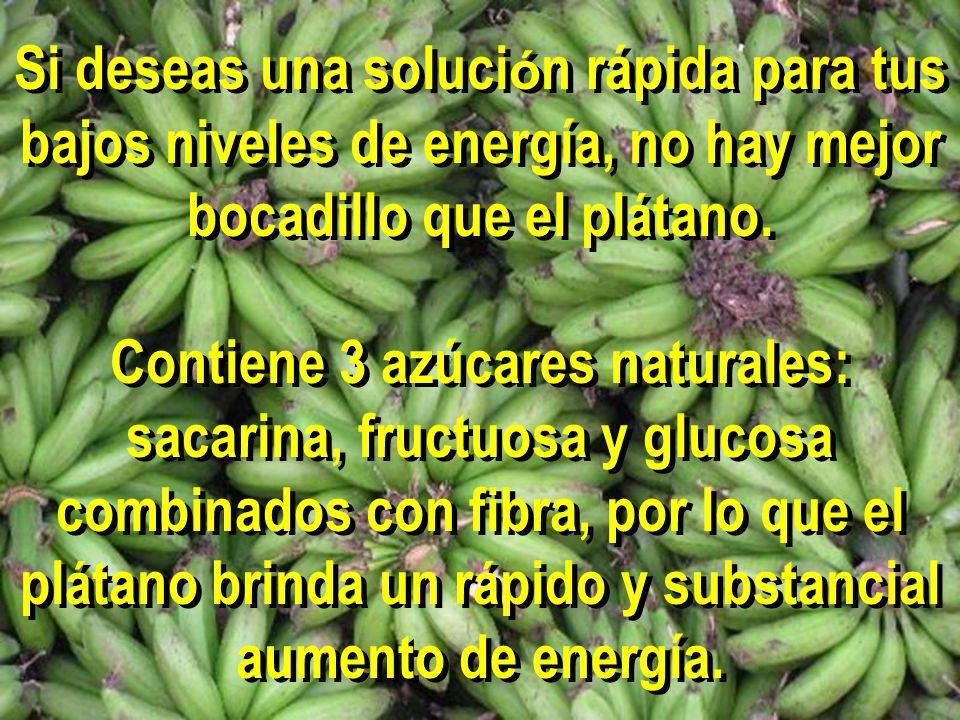 Si deseas una solución rápida para tus bajos niveles de energía, no hay mejor bocadillo que el plátano.