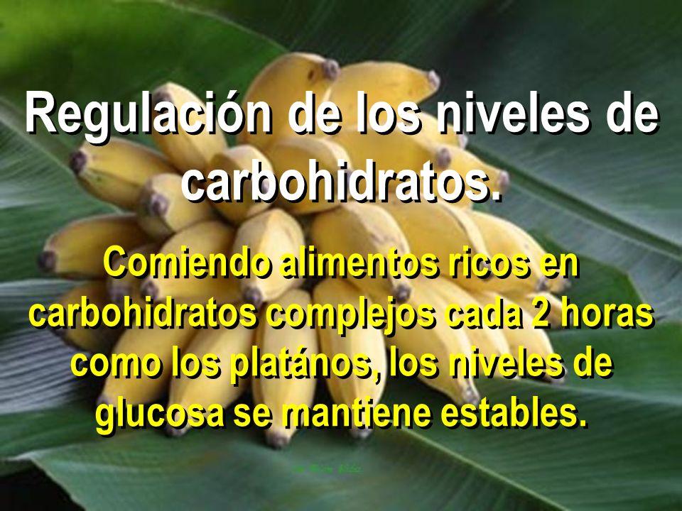 Regulación de los niveles de carbohidratos
