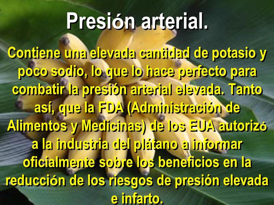 Presión arterial.