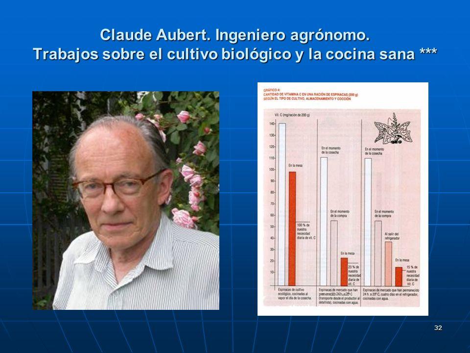 Claude Aubert. Ingeniero agrónomo