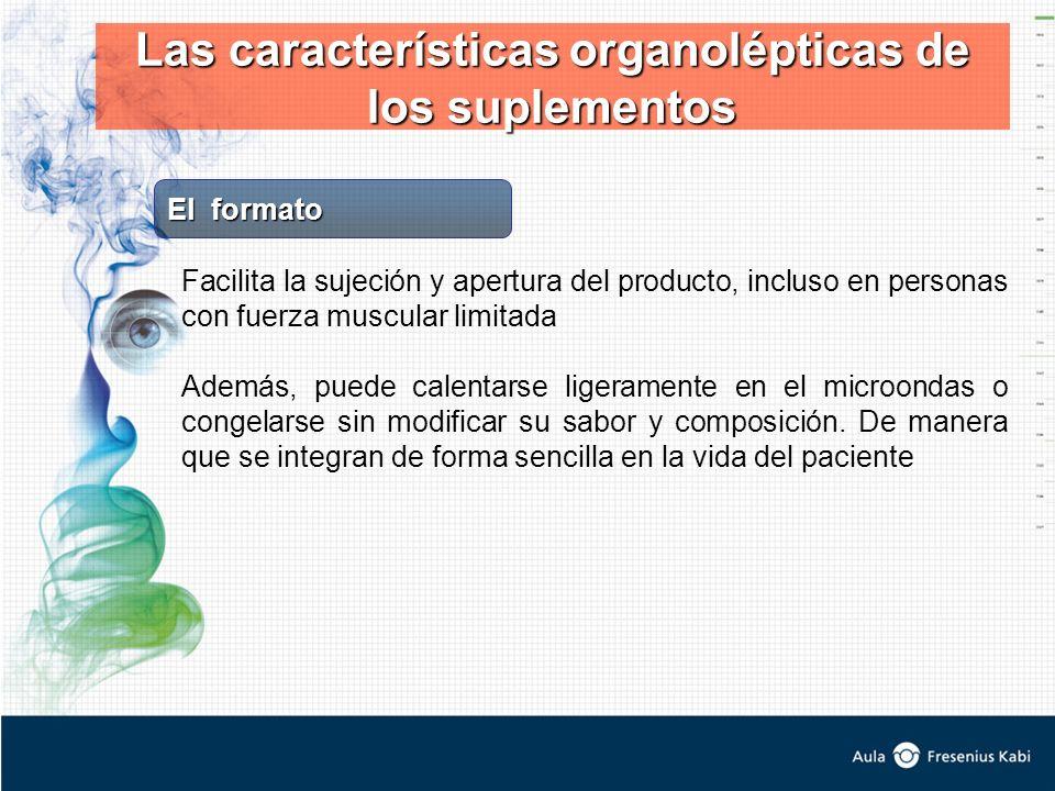Las características organolépticas de los suplementos