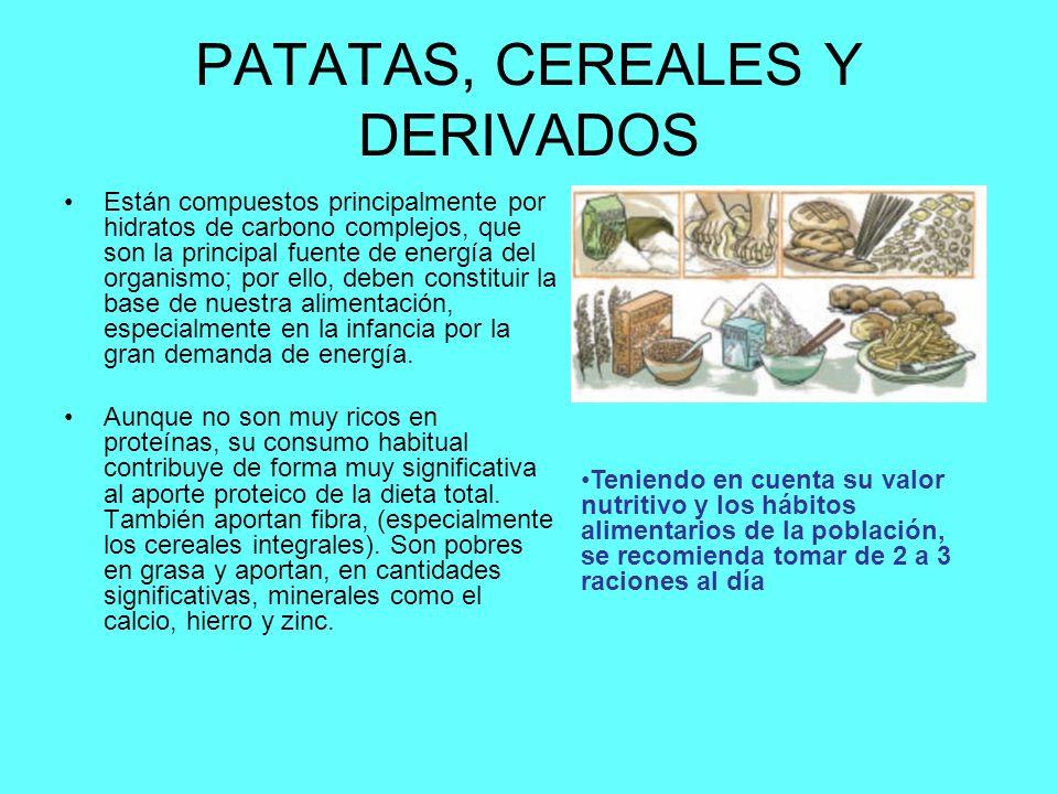 PATATAS, CEREALES Y DERIVADOS