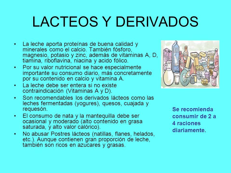 LACTEOS Y DERIVADOS
